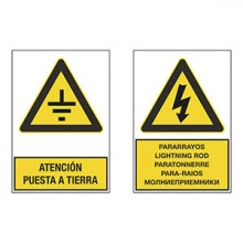 Placas de aviso y señalización