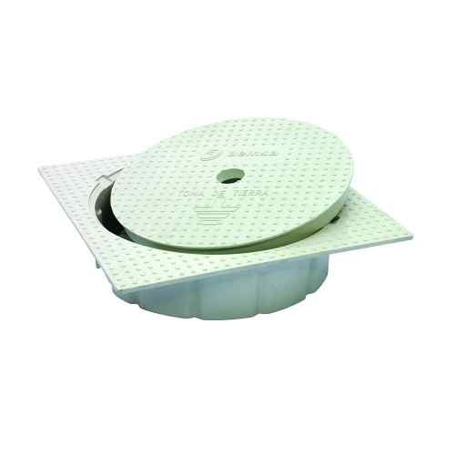 Grounding cases and covers circular polypropylene chamber